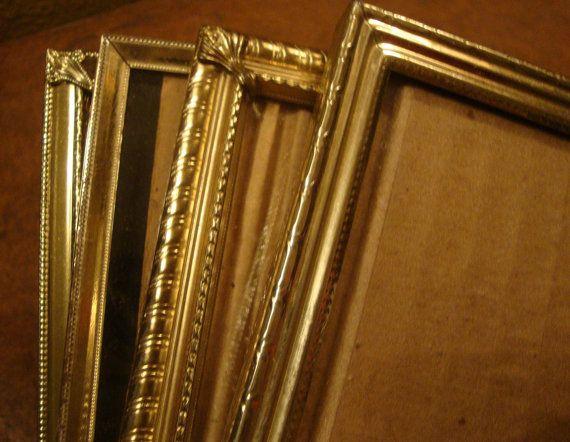 lovely vintage gold metal frames 5x7 gold frames vintage home decor rustic wedding