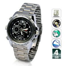 Reloj Espía Acero Detección Movimiento y Resistente Agua 4 GB