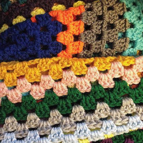 Working on the scrapghan tonight. #crochet #hooker #grannysquare #scrapghan