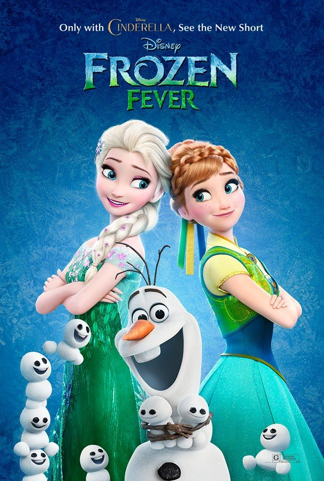 New Poster For Frozen Fever With Elsa Anna Olaf And Many Of The Snow Babies Snowgies Fiebre Congelada Frozen Disney Imagenes De Frozen