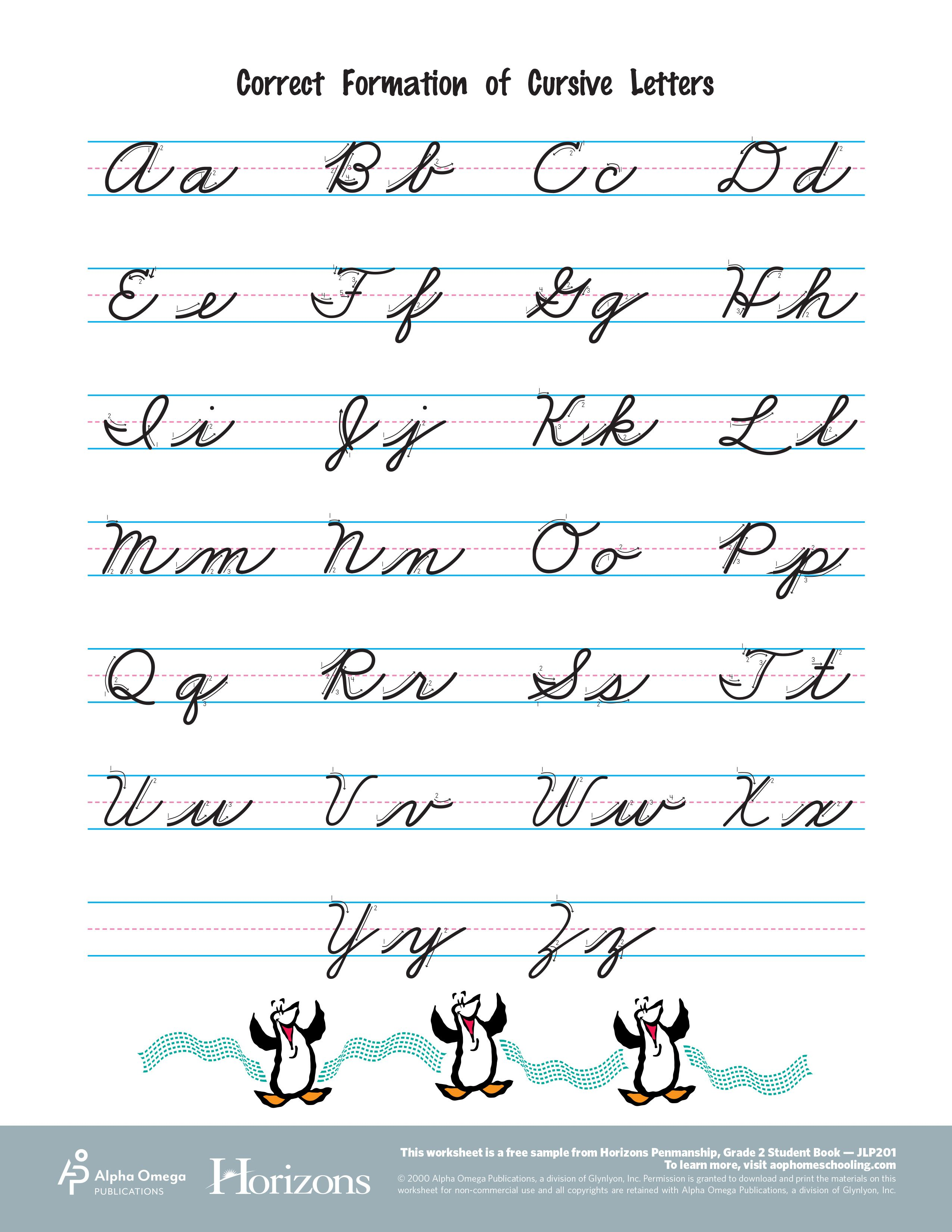 See What Horizons Has To Offer With A Free Sample From The Penmanship Handwriting Worksheets For Kindergarten Handwriting Worksheets For Kids Cursive Practice [ 3300 x 2550 Pixel ]