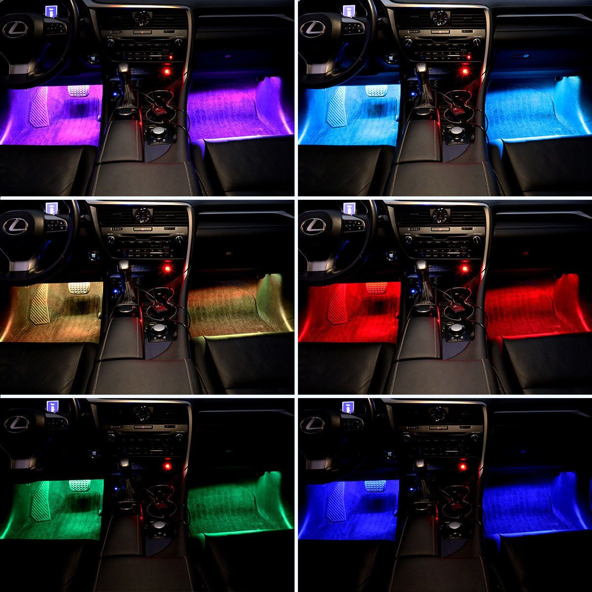 Led Rgb Ambient Lighting Interior Lighting Footwell Lighting X 4 Ideer
