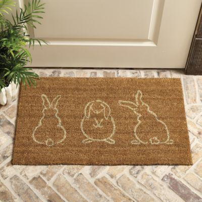 3 bunnies coir mat ballard designs
