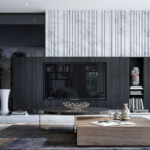 30 Black White Living Rooms That Work Their Monochrome Magic: Ghim Trên MAU PHONG KHACH DEP