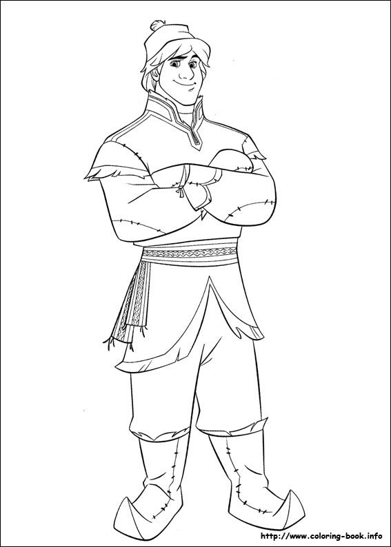 frozen coloring page kristoff