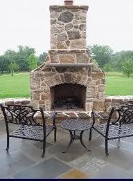 Outdoor fireplace idea