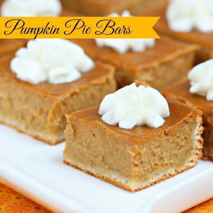 Pumpkin Pie Bars Desserts: Pin By Katelyn Grace On Yums Yums!