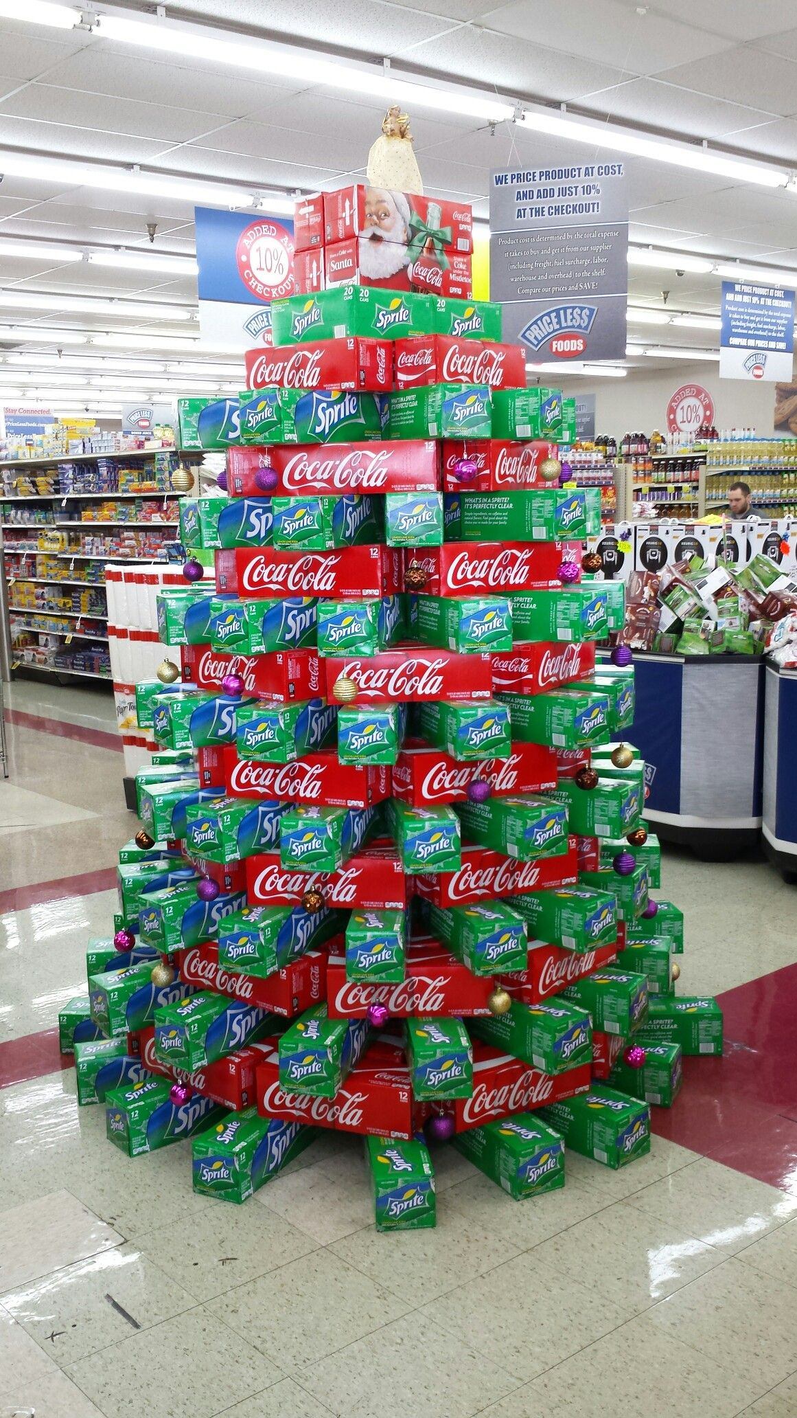 Christmas Coke Sprite Tree Christmas Display Supermarket Display Wine Store Display