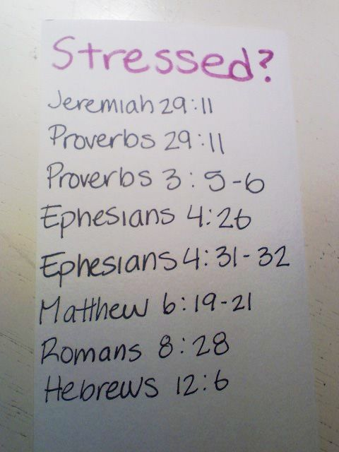 stressed?? Read these verses. I think I need to put these somewhere I can get to them quickly!
