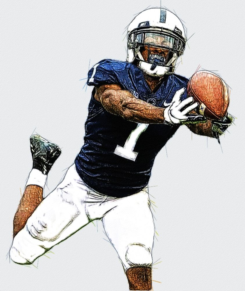 Kj Hamler Penn State Wr Football Illustration Football Wallpaper Ncaa College Football