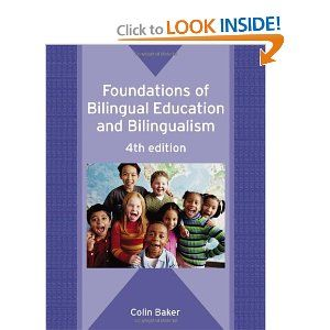 Foundations Of Bilingual Education And Bilingualism Colin Baker