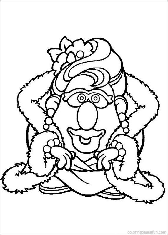 Mr. Potato Head Coloring Pages 24 | Mr Patate | Pinterest