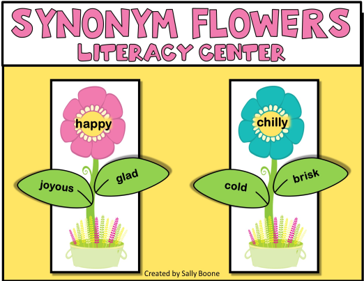 Synonyms, Literacy Center, RTI, Intervention Literacy