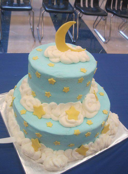 Stars And Moon Baby Cake Www Cakeapotamus Com Baby Cakes