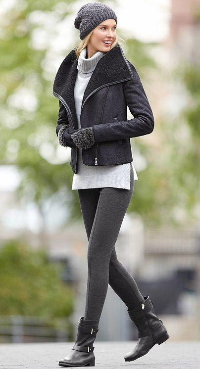 The perfect way to style leggings this weekend, look put