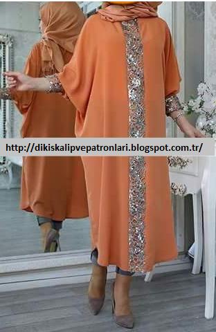 Kolay Kesim Pratik Kesim Tesettur Elbise Kalibi Giyim Elbise Islami Giyim