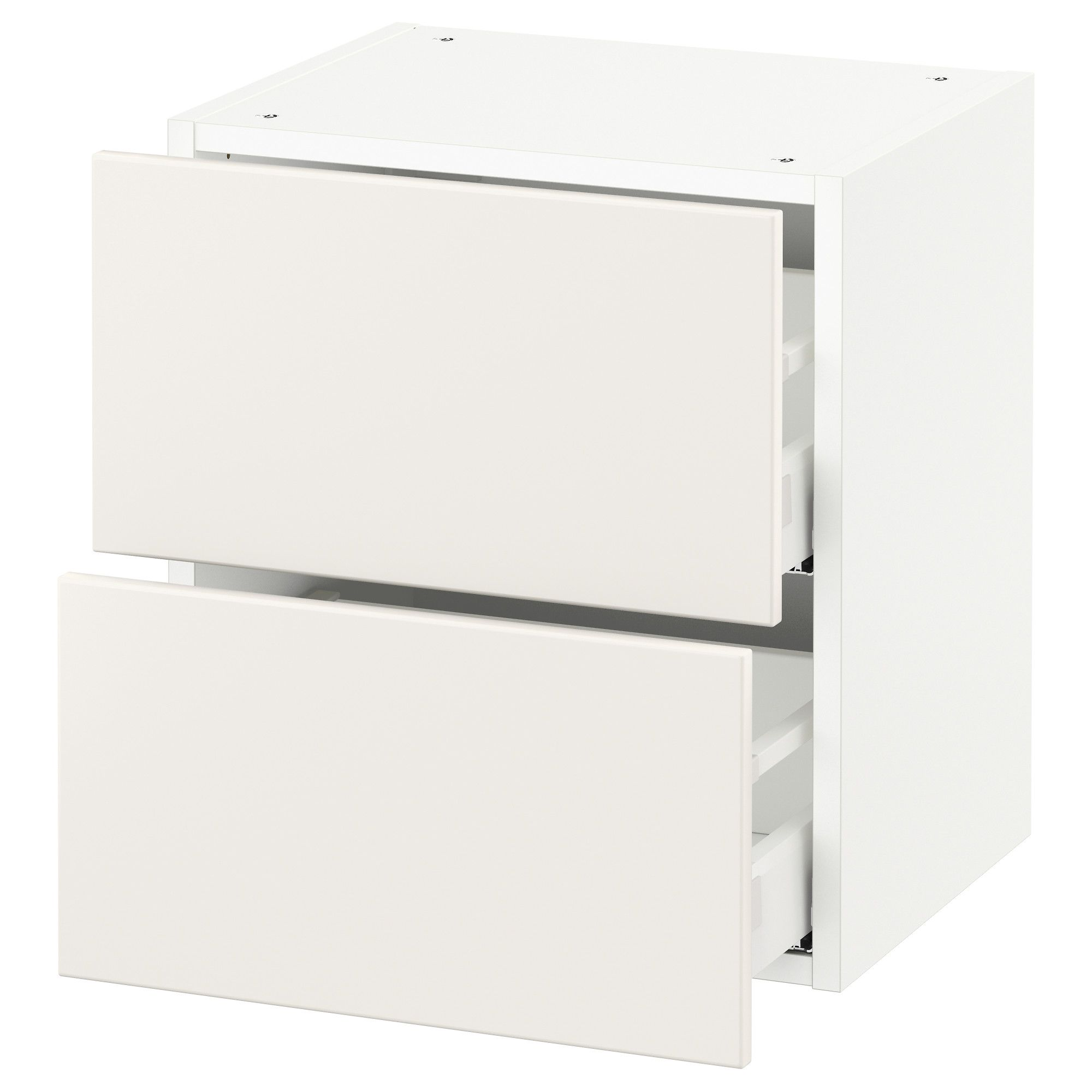 Wall Cabinet With 2 Drawers White Maximera Veddinge White 18x15x20 Kitchen Wall Cabinets Drawers Ikea