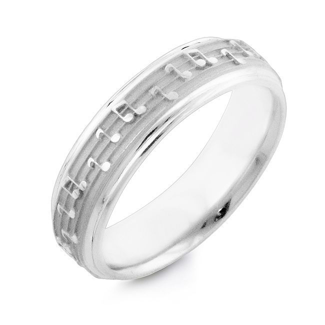 Musical Notes Designer Wedding Band Jewelry Music Music Rings