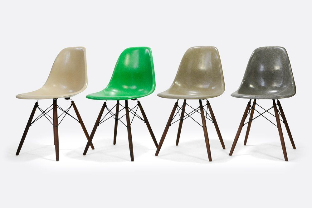 Herman Miller Eames Set Of 4 Side Chair In Different Colors
