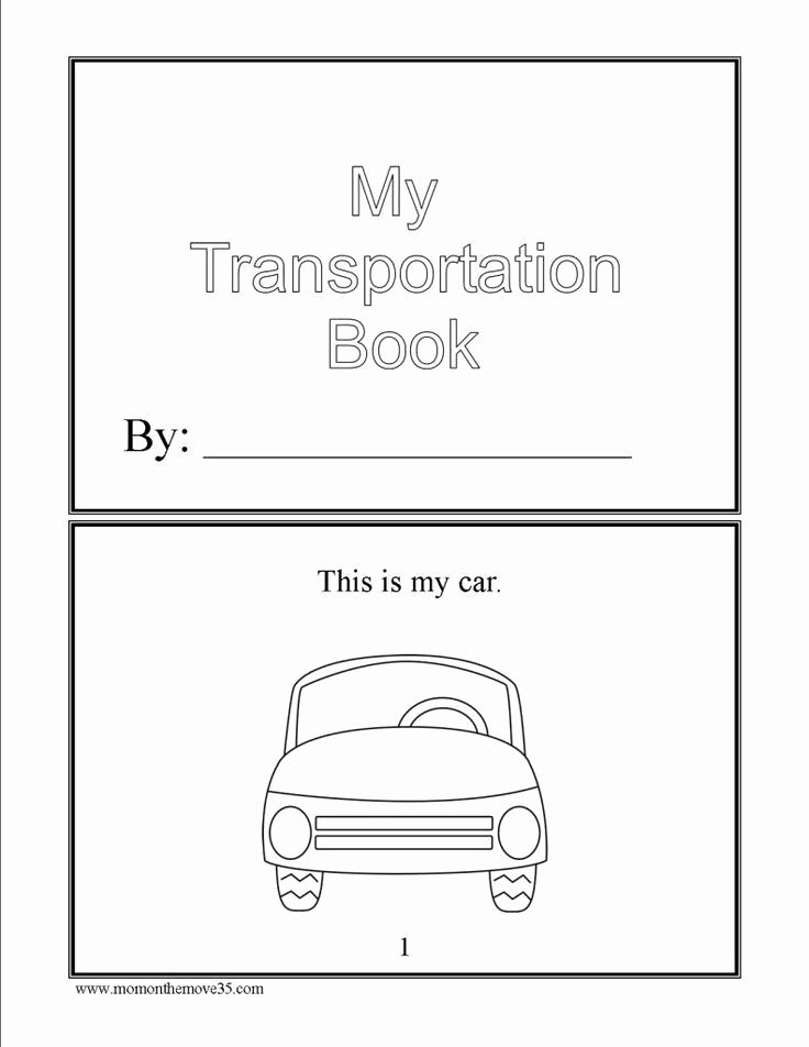 Transportation Worksheets for Preschool in 2020 ...