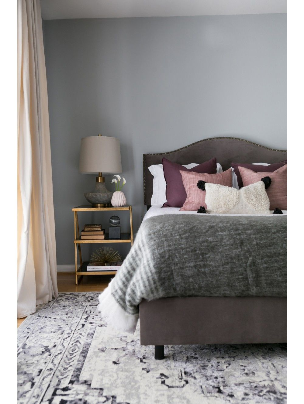 Eshe Accent Table, Gold Feminine bedroom, Blush pink and