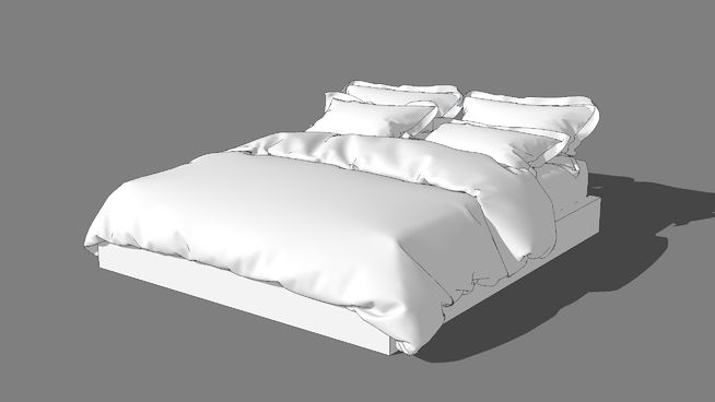 Pin By Mujeeb J On V Ray Sketch Up Bed Bed Covers Bed Furniture