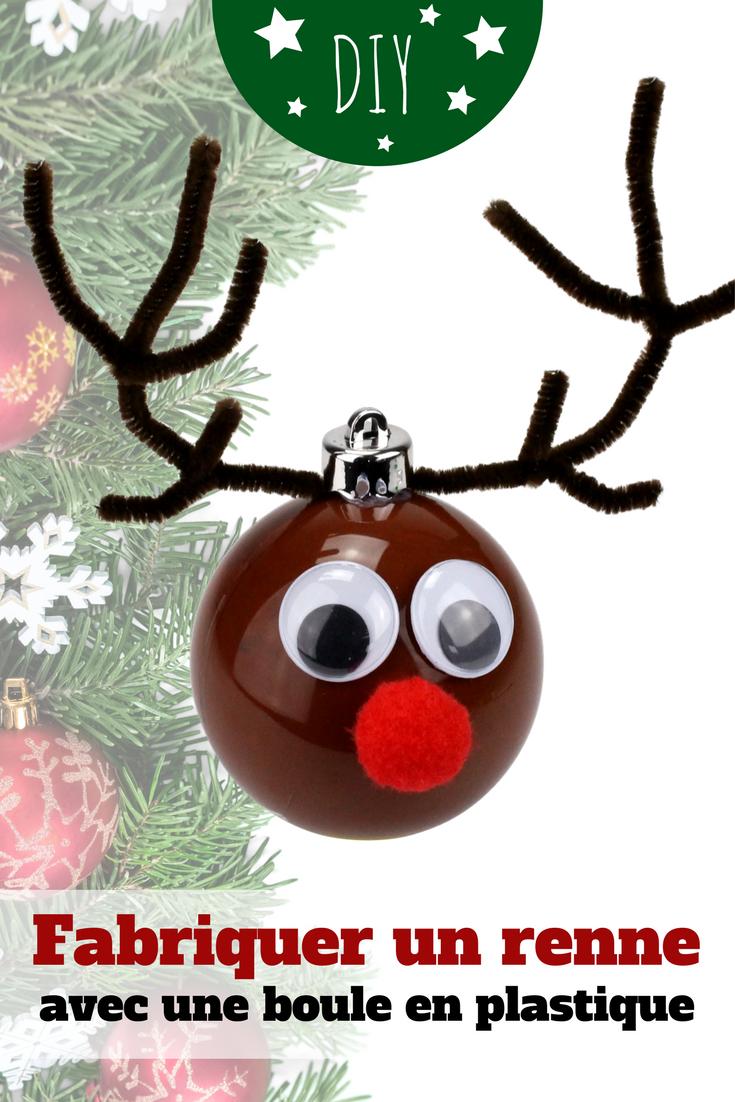 Idee Deco Boule Plastique Transparente Noel boule de noël renne - noël   cadeau noel parents, idée noël