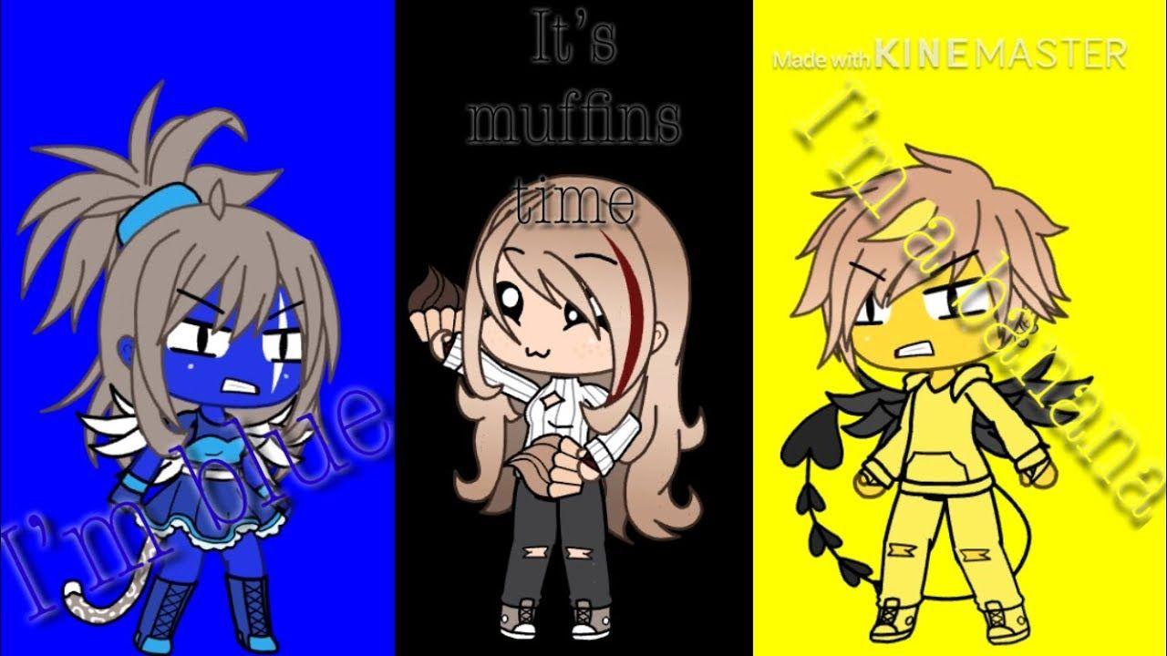 Fr I M A Banana Vs I M Blue It S Muffins Time Alyda Studio Gacha Life Fr Youtube Im Blue Studio Life