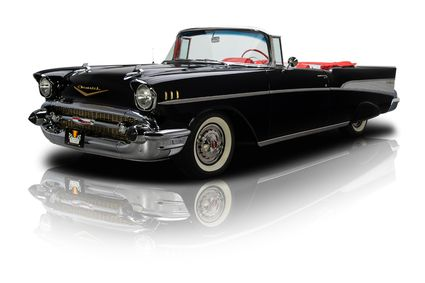 This 1957 Chevrolet Bel Air convertible is a true Onyx