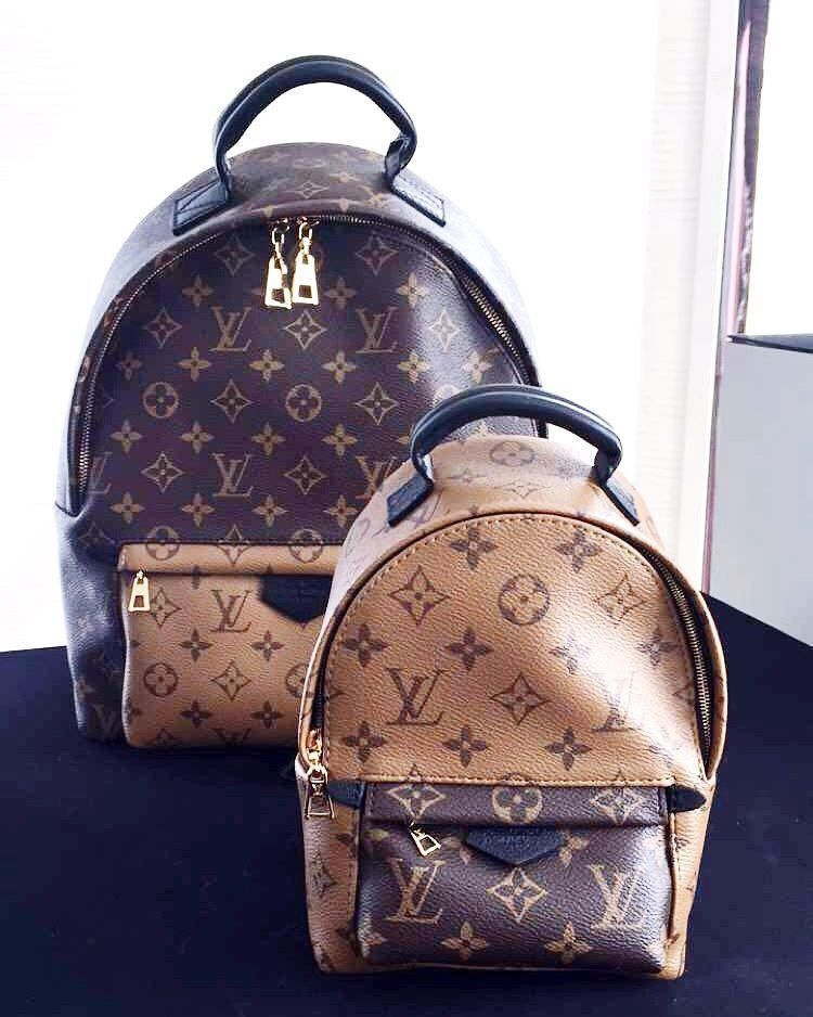 1e25c0489a88  1810 Two tone reverse monogram Louis Vuitton mini backpack and PM size   LV2016 Fall winter collection