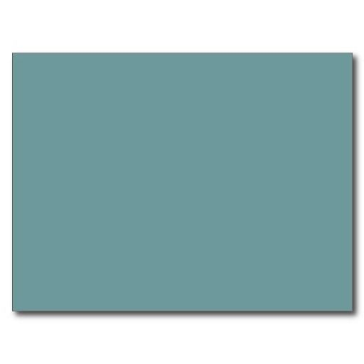 Dark Seafoam Blue Green Color Blank Sea Foam Trend Postcard