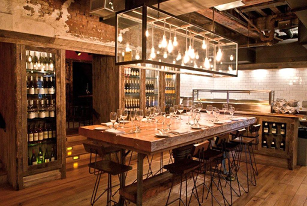 The chef table private dining room interior design of