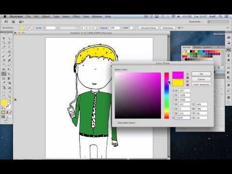 Converting Line Drawings in Illustrator - YouTube   Book