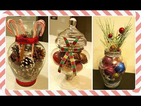 Ideas decoraci n navidad para comedor escaleras - Youtube centros de mesa navidenos ...
