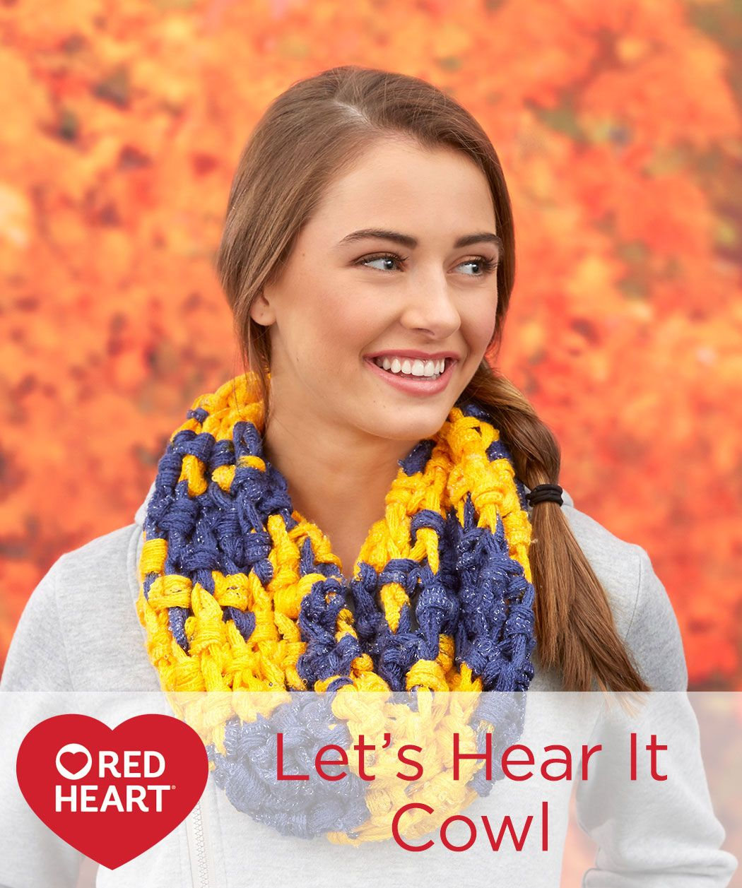 Lets hear it cowl free crochet pattern in red heart yarns you explore sashay yarn cowl patterns and more bankloansurffo Images