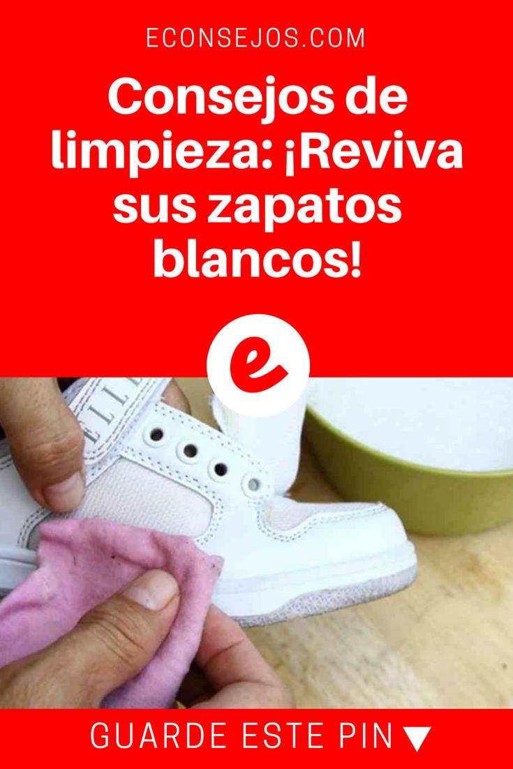 Consejos de limpieza reviva sus zapatos blancos trucos limpieza hogar pinterest - Trucos de limpieza para el hogar ...