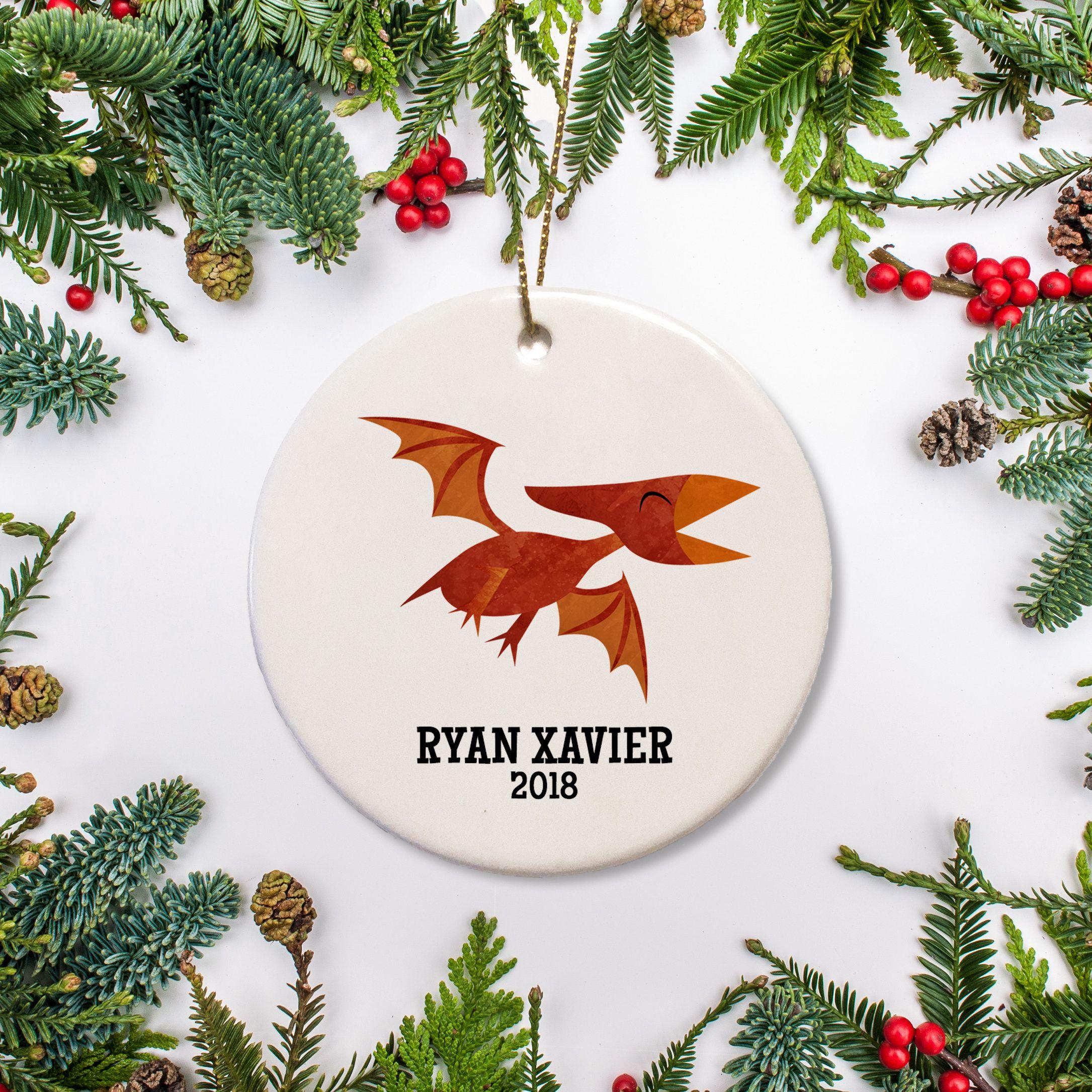 Violin Recital Boy Personalized Christmas Ornament