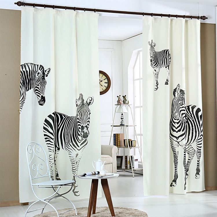 Factory Direct Sale Nordic Curtains 3D Printing Zebra High