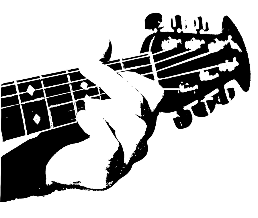 guitar stencil by airbrush