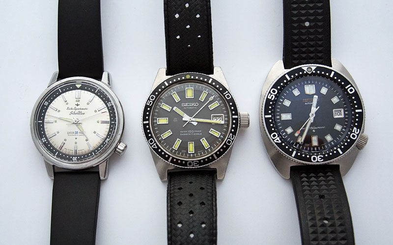 Three generations of Seiko divers watch spanning 1963 to