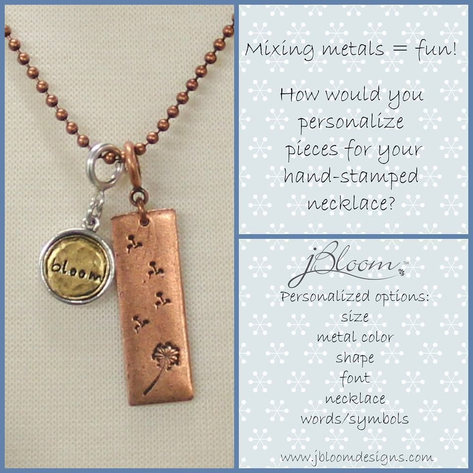 Versatile jewelry.. mix your metals and personalize it! www.myjbloom.com/lauraoliver