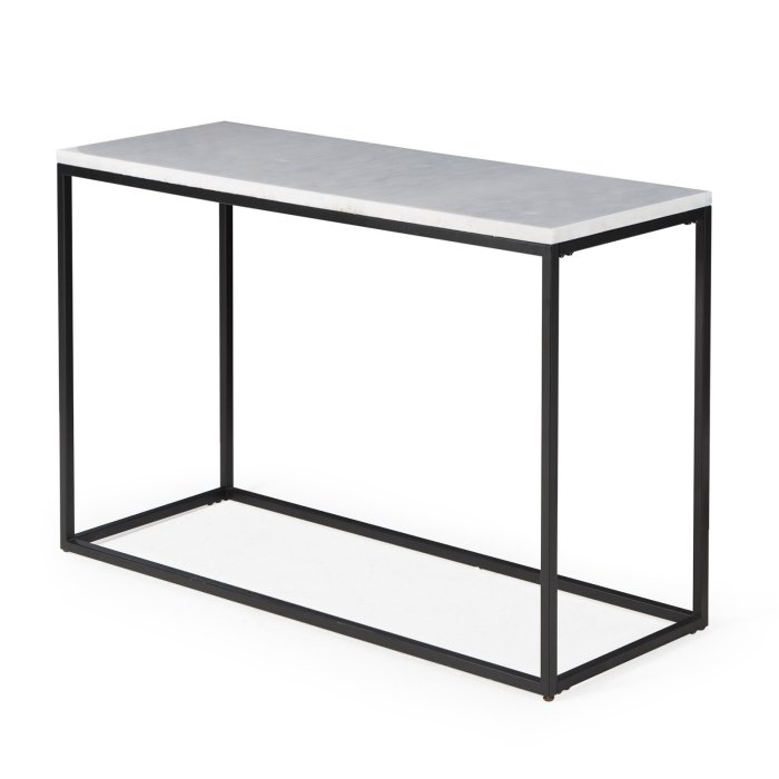 Belham Living Sorenson Rectangle Console Table With Marble Top Hayneedle Console Table Marble Top Black Accent Table
