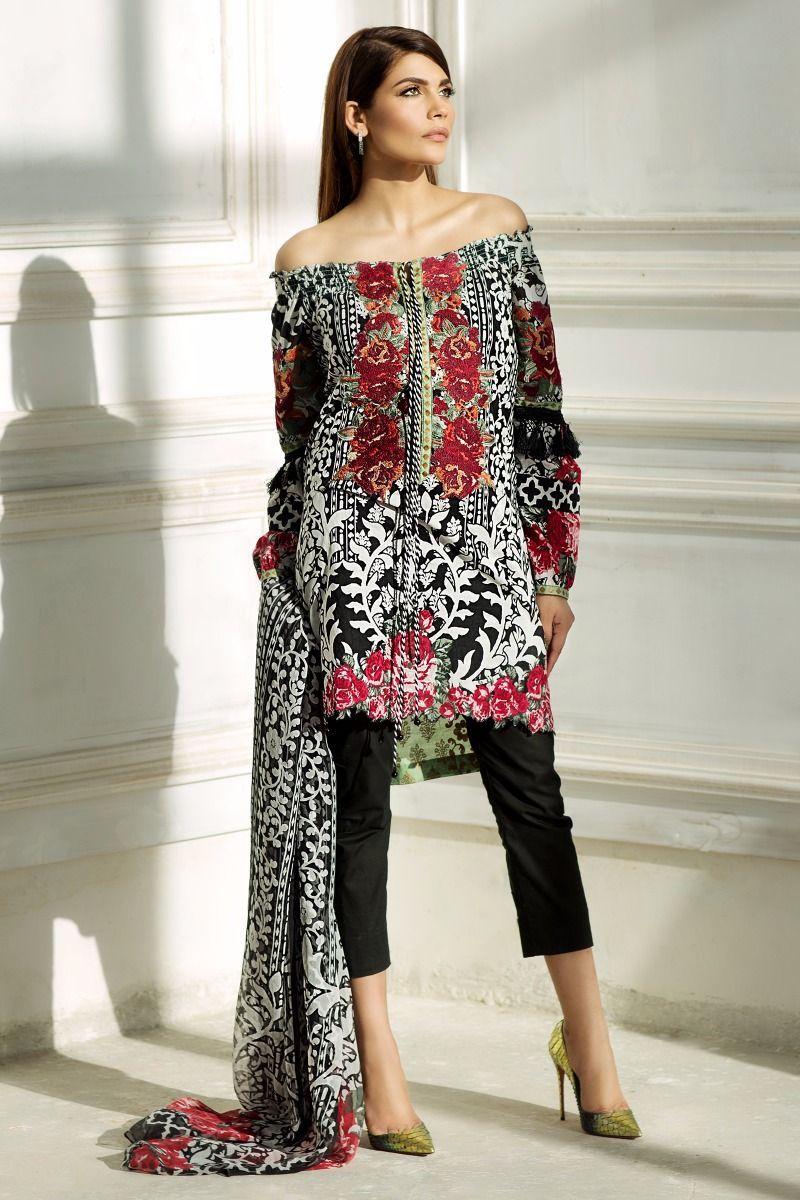 Sana Safinaz Best Summer Lawn Dresses Latest Printed Embroidered ...