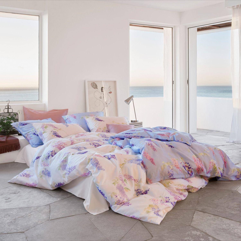 Schlossberg Aurelie Bleu Bed Linen Sateen In 2020 Bettwasche