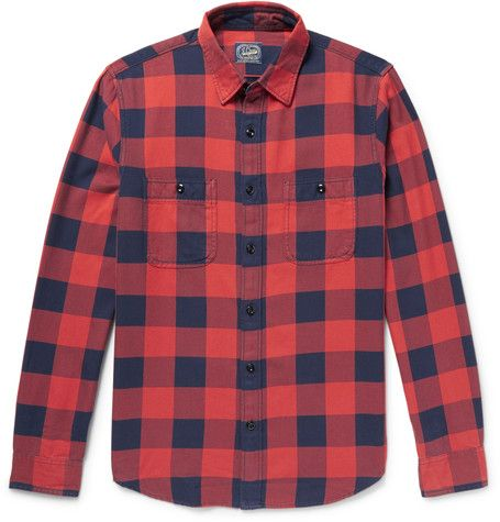 Checked Cotton-flannel Shirt J.crew 2018 New Cheap Online Professional For Sale Cheap Sale Ebay doKKnY