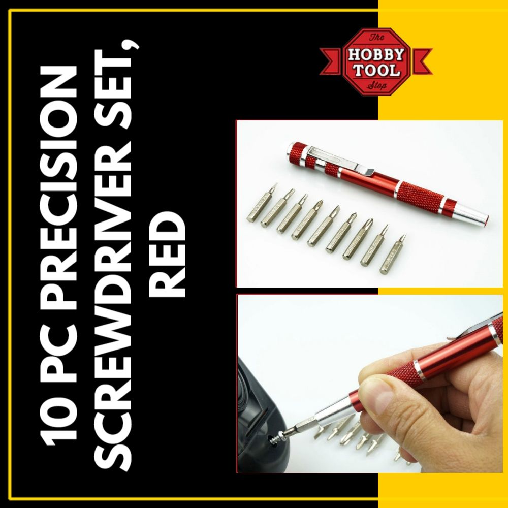 10 pc precision screwdriver set red product features