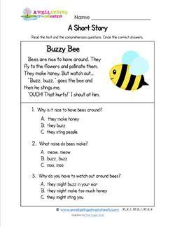 Kindergarten Short Stories - Buzzy Bee | story telling ...