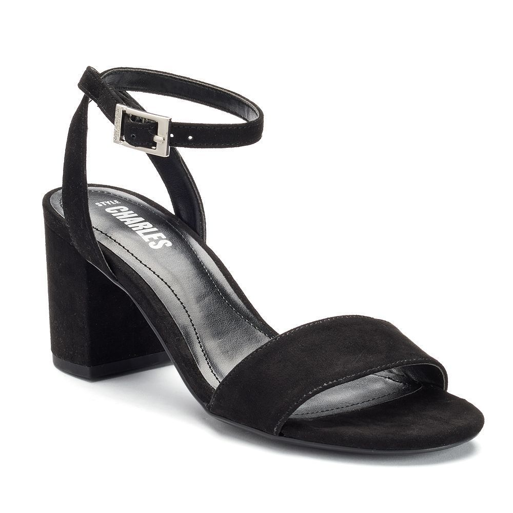 Style Charles by Charles David Kim Women's Block Heel Sandals, Size: medium (8.5), Black