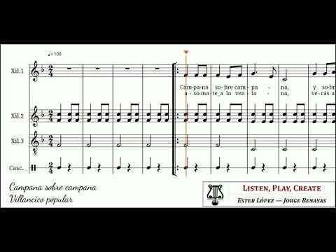 Adaptación Para Instrumentos Orff De Una De Las Canciones Navideñas Más Típicas Campana Sobre Campana Sobre El Arregl Villancico Orff Villancicos Navideños