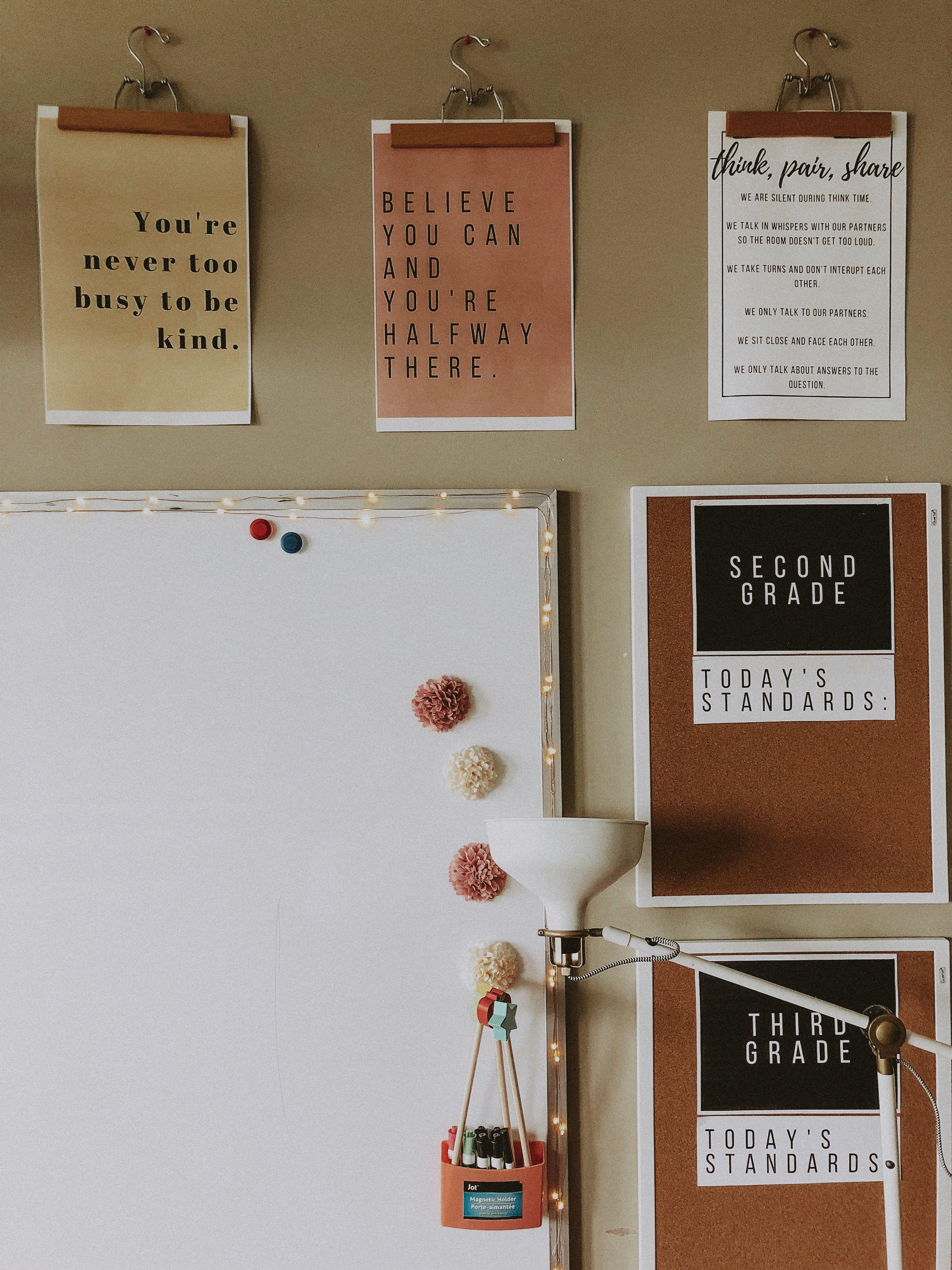 classroom goals. @megpoulson #classroomdecor